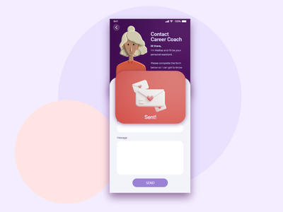 Daily UI 012: flash messages illustration illustrator confirmation contact form daily challenge daily 100 dailyui