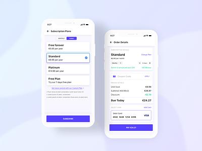 Subscription Plans & Payment checkout subscriptions plans payment warehouse typography branding app ux background ui design