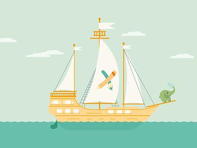 The ship has sailed smarticons boat ship illustration