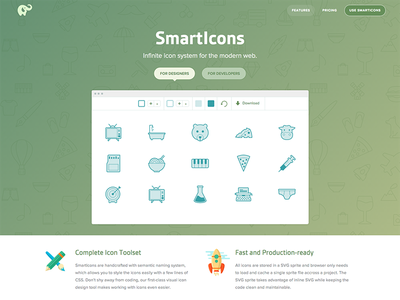 SmartIcons landing page landing icons smarticons
