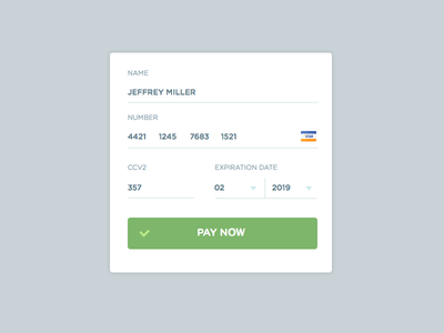 Credit Card Form 002 form ecommerce creditcard credit card dailyui