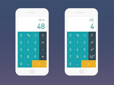 DailyUI day 004: Calculator math calculator 004 dailyui