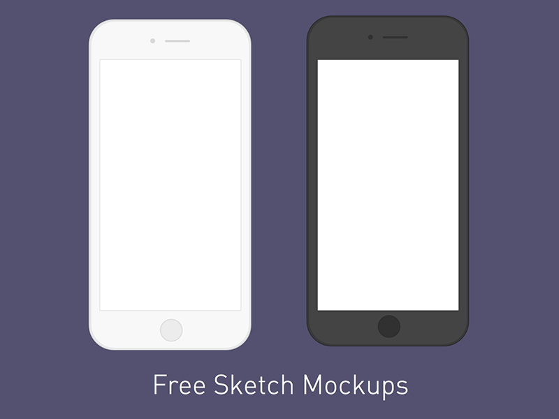 Freebie: Minimal iPhone Mockups  iphone6s iphone6 iphone mockup sketch download free freebie