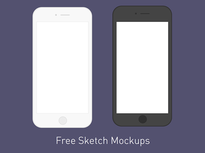 Freebie: Minimal iPhone Mockups  iphone6s iphone6 iphone mockup sketch download free freebie