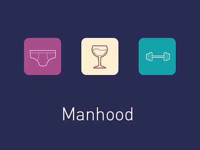 DailyUI day 005: App icon man weight wine glass underwear ios app 005 dailyui icon