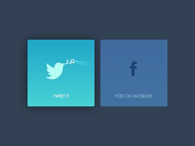 DailyUI 010: social sharing facebook twitter icon sharing social 010 dailyui