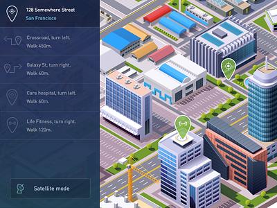 DailyUI day 020: Location tracker urban city location tracker map 020 dailyui