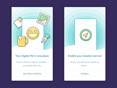 DailyUI - Day023: onboarding intro onboard icon onboarding 023 dailyui