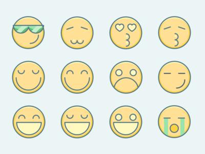 Emoticons smilies emoji emotion