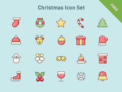 Free vector icons: Christmas set vector svg holiday season christmas xmas x-mas icons icon