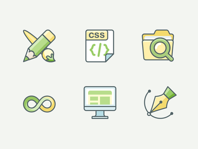 Landing Page Icons svg design pen landing vector icon