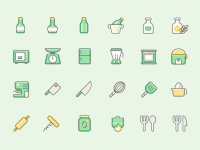 In The Kitchen chef cook vector tool kitchen icon