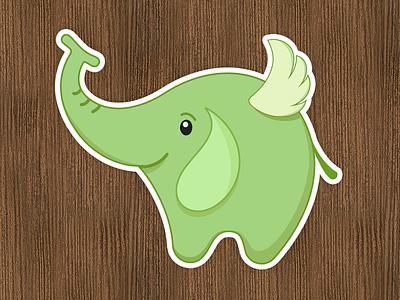 SmartIcons' sticker elephant icon mascot illustration sticker smarticons