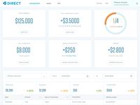 Direct Banking - Dashboard