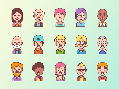 Free vector illustrations female male race characters illustrations avatar pictures profile vector free freebie