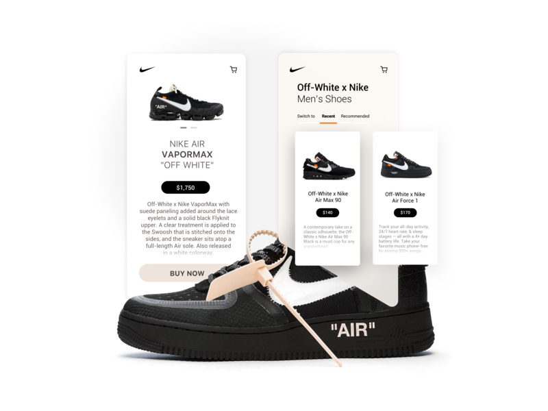 "Off-white X Nike 👟 ""UI"" dribbble minimalist clean ui hypbeast off-white shoes adidas nike"