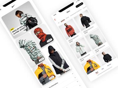 Nike ACG - Outerwear Store UI