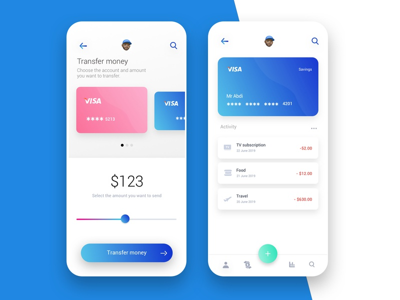 Money app concept 1 finance financial money transfer finance app finances money app money app dribbble concept ux clean design minimalist ui