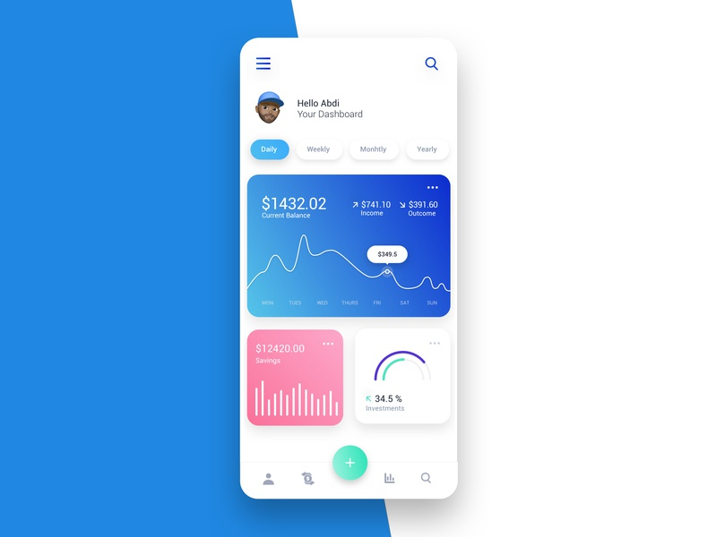Money app concept 2 ui design ux finance app money transfer money app dribbble concept clean design minimalist ui