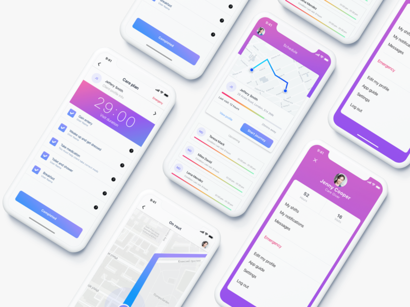 Medical Start-up App branding concept clean startup uidesign uiux ux design ux