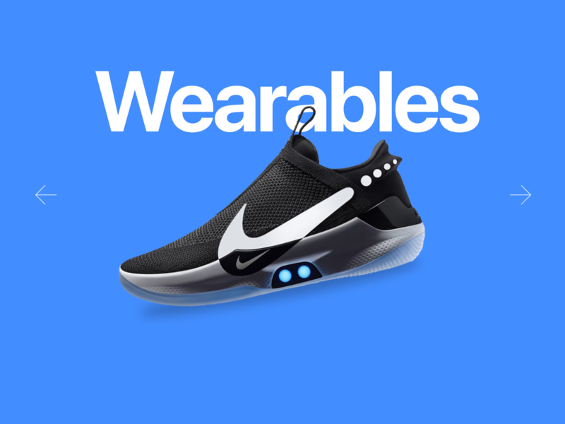 Wearables with style. nike dribbble concept ux design clean minimalist ui