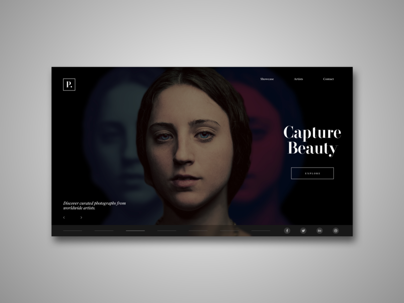 Photography Showcase Website UI