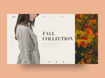 Lightn - Fashion UI ui ux design fashion fall web