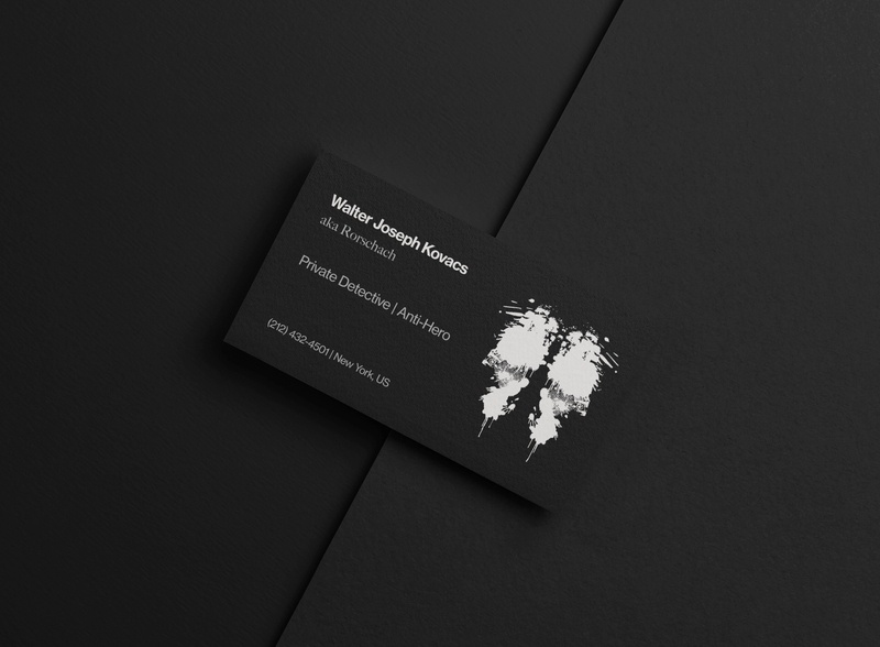 Walter Joseph Kovacs | aka Rorschach dribbble detective private kovacs dc dcuniverse watchmen noir rorschach business card dark