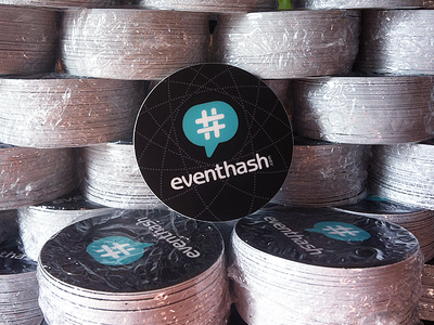 eventhash stickers sticker eventhash hash tag teal