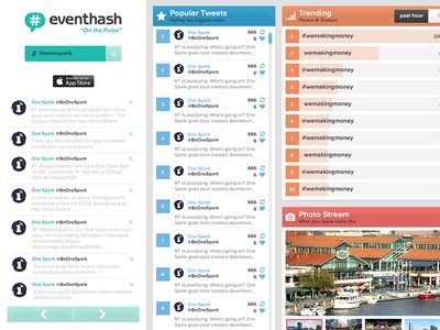 eventhash Dashboard eventhash hash tag onespark ui ux widgets dashboard