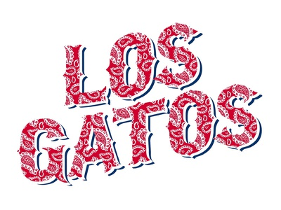 Los Gatos typography nike college t-shirt
