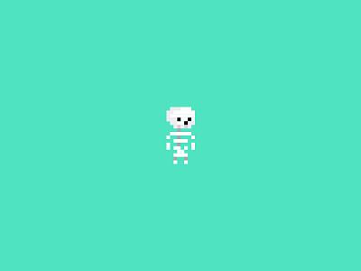 #IDARB idarb skeleton pixels flat skull illustration game sketch app addicted