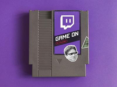 Game On pretendo nintendo nes twitch purple