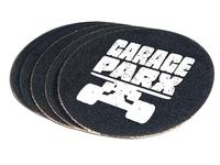 Garage Parx logo on grip tape sticker