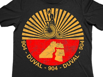 Duval County FL Seal Remix t-shirt bikes jacksonville duval apparel design illustration