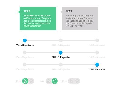 UI App Elements ui app flat ux design progress bar form toggle