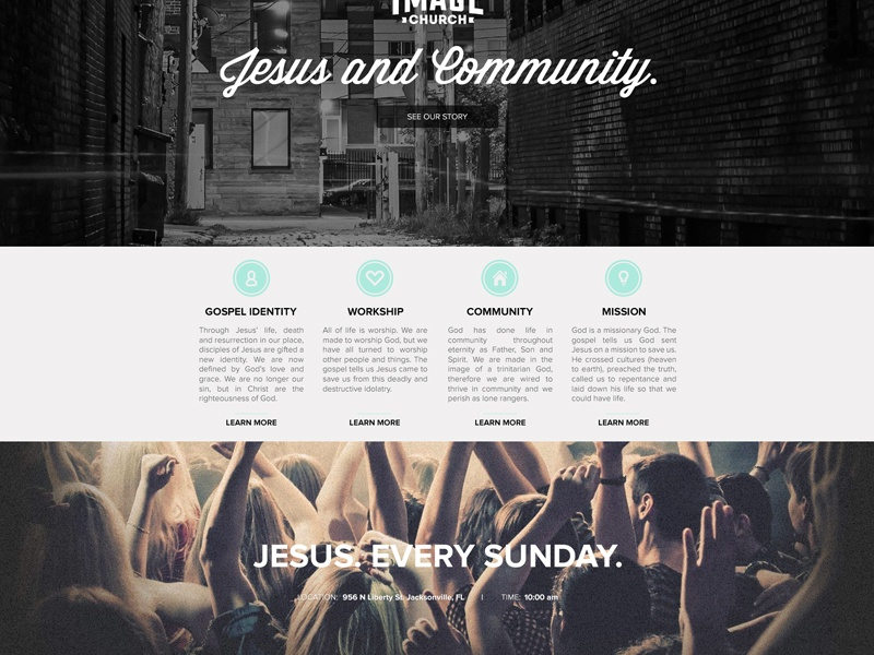 Image church website