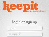 Keepit iOS App