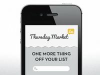 Thursday Market iOS Concept