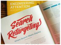 Search Retargeting Lettering published on Logic + Magic Magazine