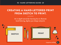 Creating a Hand-Lettered Print from Sketch to Print.