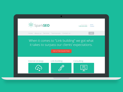 Spark SEO - Web Template for a SEO Agency seo agency web template