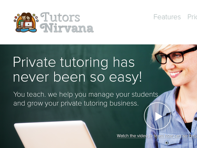 Tutors Nirvana | Startup Website Redesign startup redesign website tutors nirvana