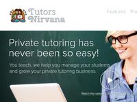Tutors Nirvana | Startup Website Redesign