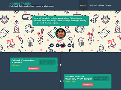 Timeliner (User profile) - Free PSD timeline career cv psd free template