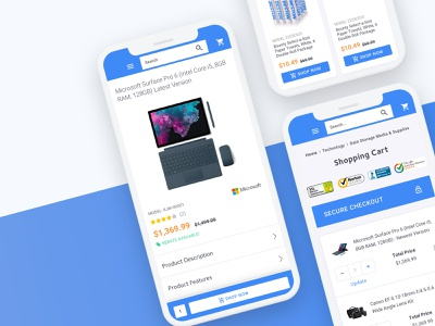 Ecommerce Technology Store (Work In Progress) app product page shopping cart shopping ecommerce design technology responsive mobile app ecommerce app ecommerce