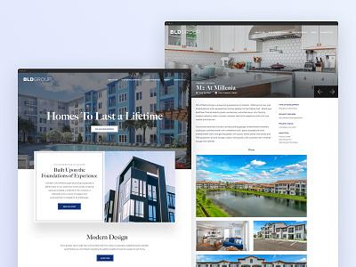 Real Estate Development & Property Management Website - BLDGroup wordpress theme architecture website real estate website real estate app property management property developer architecture real estate