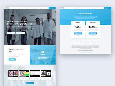 Medical LMS - Executive Electrocardiogram Education Website medicine learningmanagementsystem doctors doctor medical lms wordpress