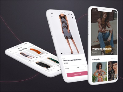 Luxury Fashion Ecommerce iOS App womens fashion fashion ios ecommerce app ecommerce design ecommerce