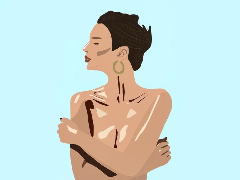 Emily Ratajkowski procreate app procreate adobe illustrator draw adobe illustrator illustrator illustration art women who draw women in illustration adobe draw illustration